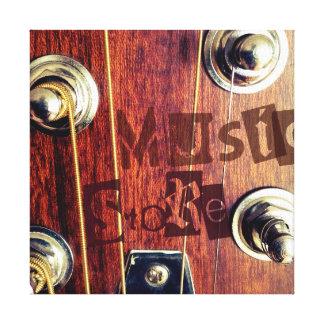 Music Store Impresiones En Lienzo Estiradas
