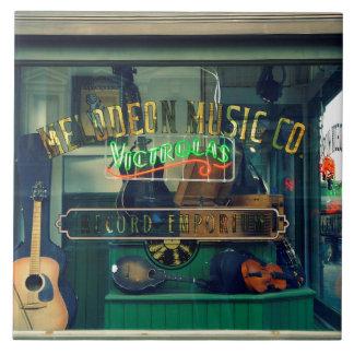 Music Store viejo Azulejo Cuadrado Grande