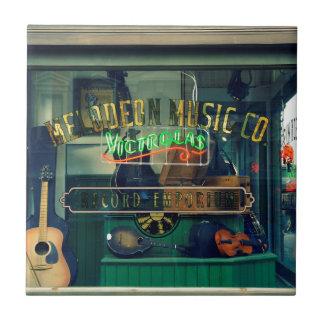 Music Store viejo Azulejo Cuadrado Pequeño