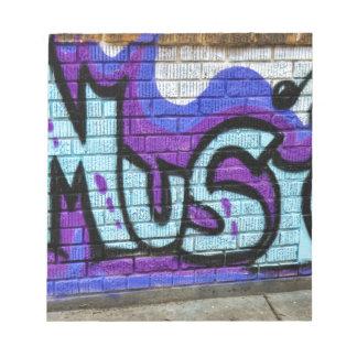 Music Street Art Graffiti Notepad