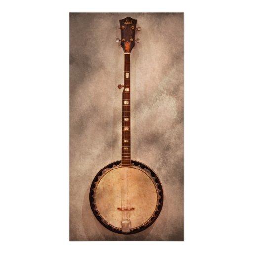 Music - String - Banjo Photo Card Template
