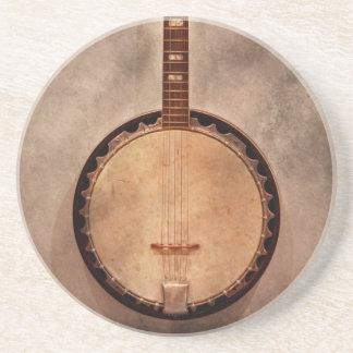 Music - String - Banjo Sandstone Coaster