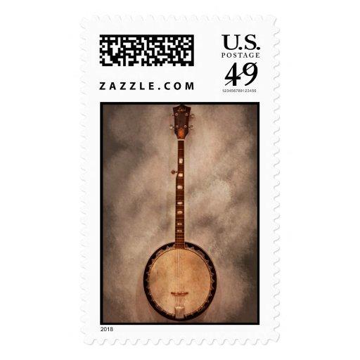 Music - String - Banjo Stamps