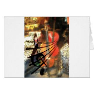 Music  Stringed Instrument Violin Destiny Digital Greeting Card