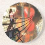 Music  Stringed Instrument Violin Destiny Digital Beverage Coasters