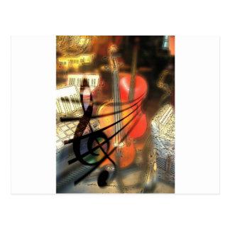 Music  Stringed Instrument Violin Destiny Digital Post Card