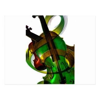 Music  Stringed Instrument Violin Destiny Digital Postcard