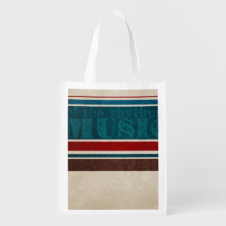 music striped Background Market Totes