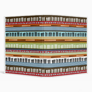 Music Stripes Binder