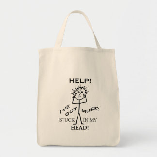 Music Stuck in My Head Canvas Bags