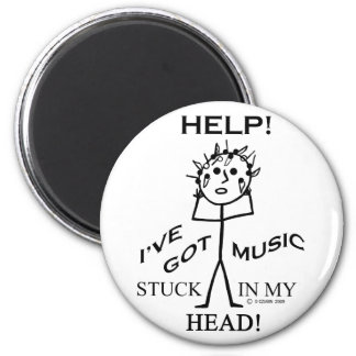Music Stuck in My Head Refrigerator Magnet