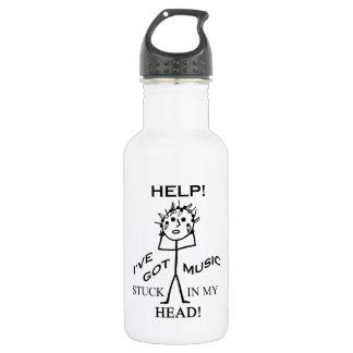 Music Stuck in My Head 18oz Water Bottle