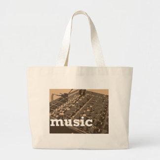 Music Studio Mixer Large Tote Bag