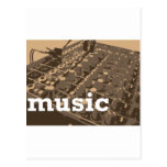 Music Studio Mixer Post Card