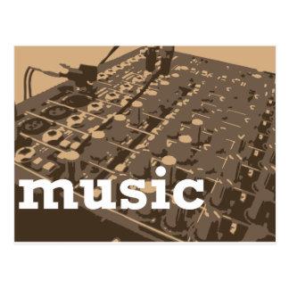 Music Studio Mixer Postcard