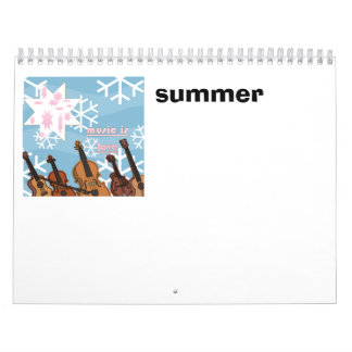 music, summer calendar