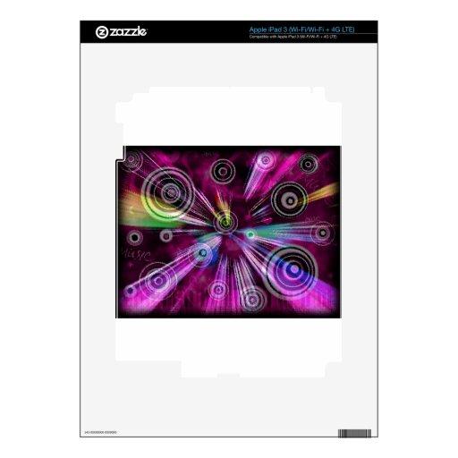 MUSIC SWIRL iPad 3 SKINS