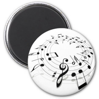 Music Swirl Refrigerator Magnets