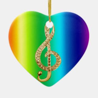 Music Symbol Staff G-Clef Ceramic Ornament