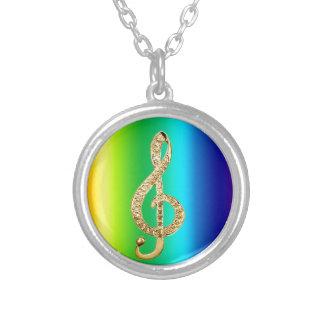 Music Symbol Staff G-Clef Custom Necklace