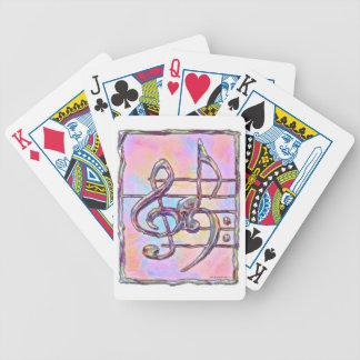 Music Symbols 3 playing cards