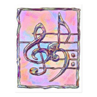 Music Symbols 3 Postcard