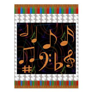 Music Symbols Band Musician Mastreo Singers Songs Postcards