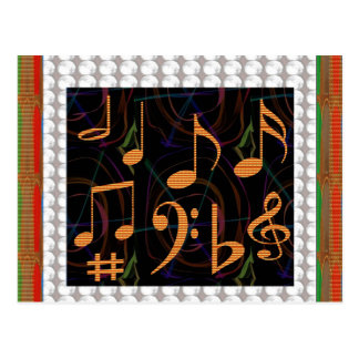 Music Symbols Band Musician Mastreo Singers Songs Post Card