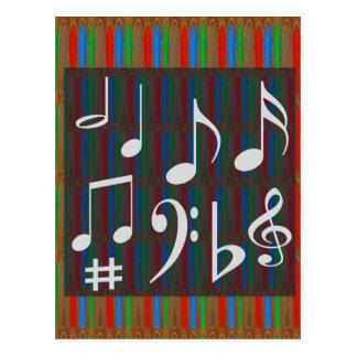 Music Symbols Band Musician Mastreo Singers Songs Postcard