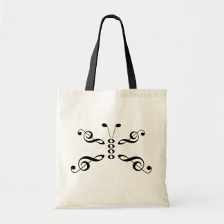 Music Symbols Butterfly Tote Bag