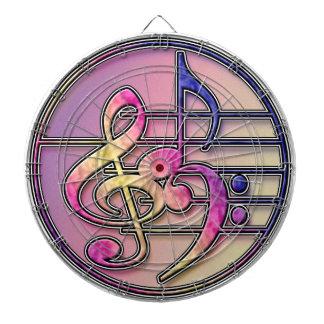 Music Symbols dart board