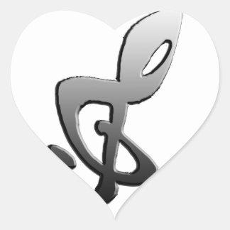 Music Symbols G-clef transform Heart Sticker