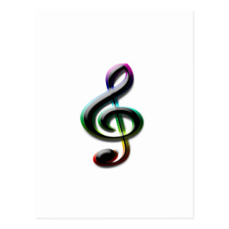 Music Symbols Postcard