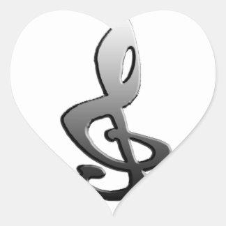 Music Symbols Staff G-clef Heart Sticker