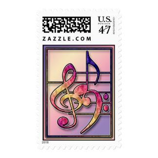 music symbols stamp