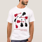 music-T black and red guitars T-Shirt