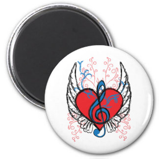 music t-shirt 2 inch round magnet