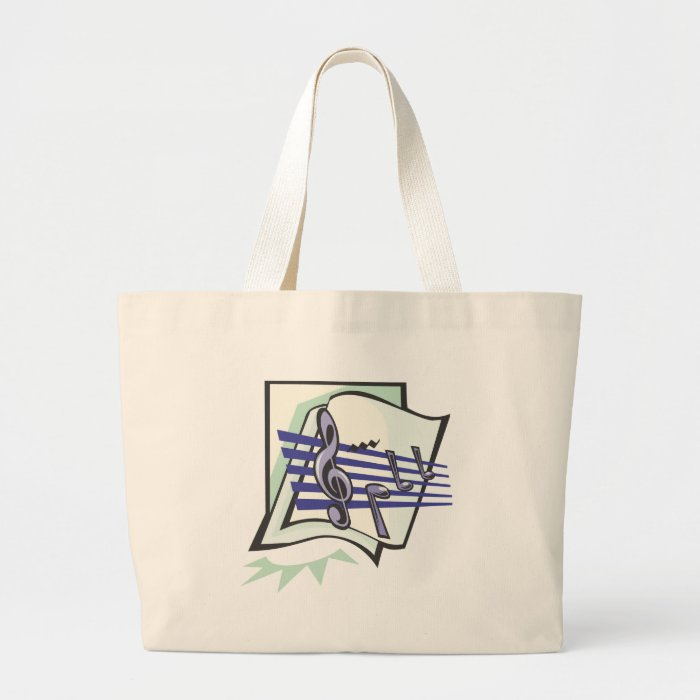 Music T-Shirts and Music Gifts Large Tote Bag