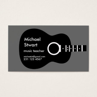 music teacher . acoustic guitar business card