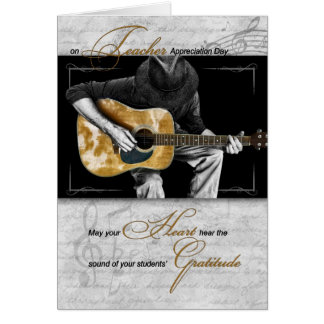 Music Teacher Appreciation | Guitarist Card