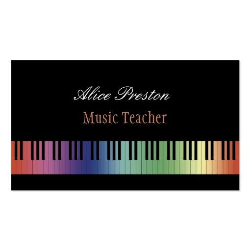 Music Teacher - Business Card