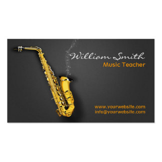 Music Teacher Double-Sided Standard Business Cards (Pack Of 100)