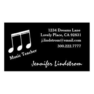 MUSIC TEACHER Business Card Template Pack Of Standard Business Cards