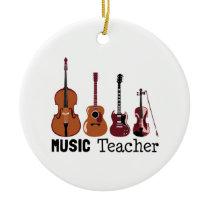 Music Teacher Ceramic Ornament