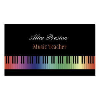 Music Teacher | Colorful Business Card