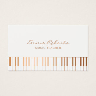 Music Teacher Business Cards Templates Zazzle - Teacher business card template