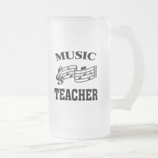 MUSIC TEACHER FROSTED GLASS BEER MUG
