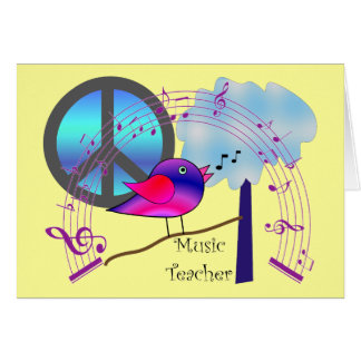 Music Teacher Gifts Card