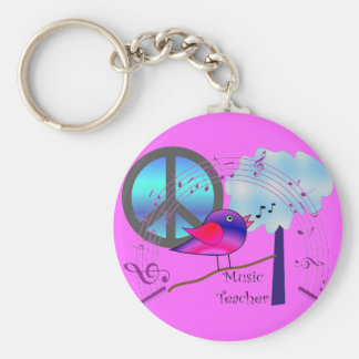 Music Teacher Gifts Keychain