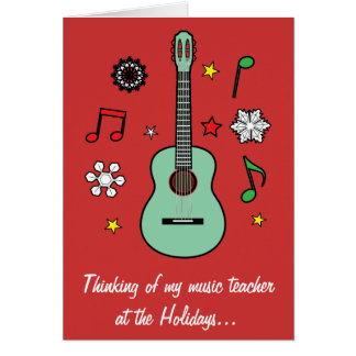 Music Teacher Holiday Card